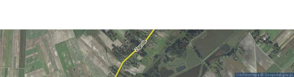 Zdjęcie satelitarne Zagroda ul.