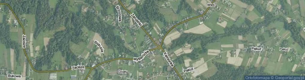 Zdjęcie satelitarne Zarusinki ul.