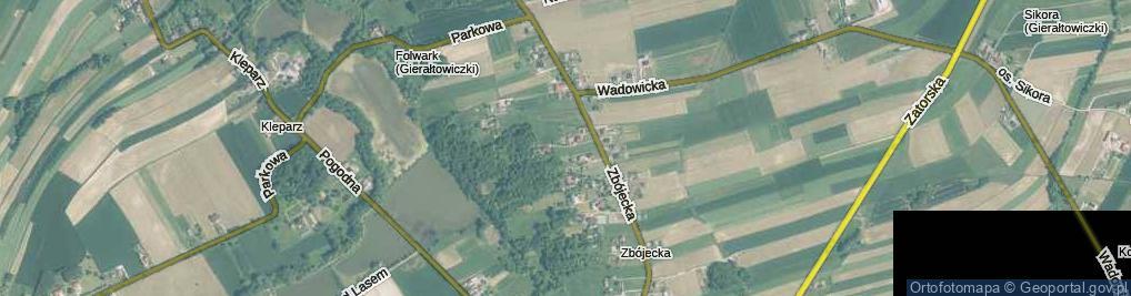 Zdjęcie satelitarne Zbójecka ul.