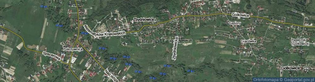 Zdjęcie satelitarne Zbydniowicka ul.