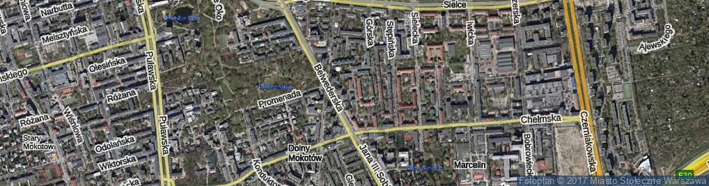 Zdjęcie satelitarne Zbierska ul.