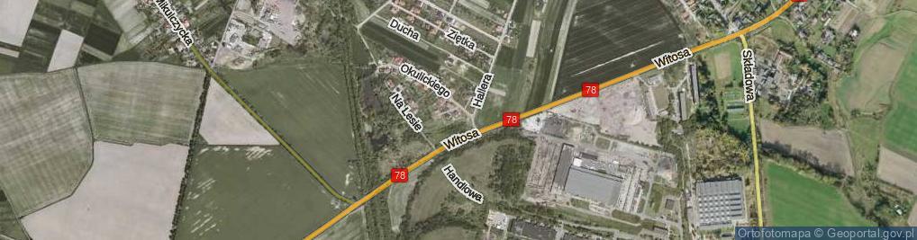Zdjęcie satelitarne Zbrosławicka ul.
