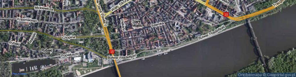 Zdjęcie satelitarne Żeglarska ul.