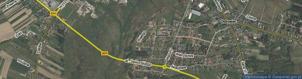 Zdjęcie satelitarne Zibura Mikołaja ul.