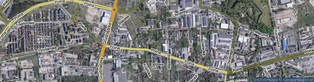 Zdjęcie satelitarne Ziemi Michałowskiej ul.