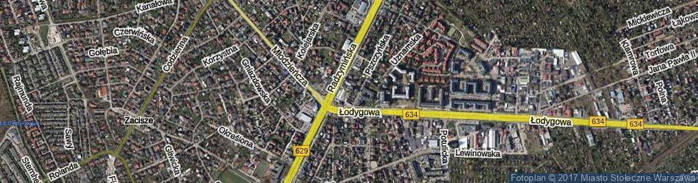 Zdjęcie satelitarne Ziemiańska ul.