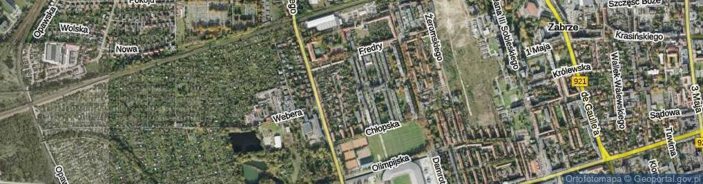 Zdjęcie satelitarne Zieleniewskiego ul.
