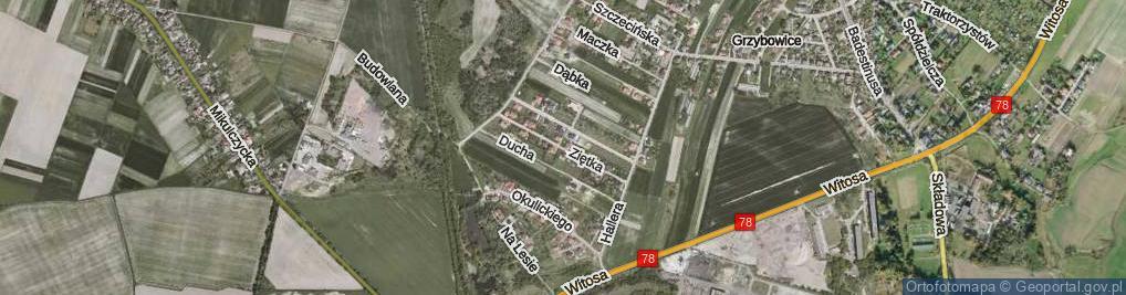 Zdjęcie satelitarne Ziętka Jerzego, gen. ul.