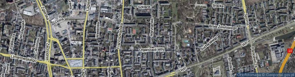 Zdjęcie satelitarne Złotnicza ul.