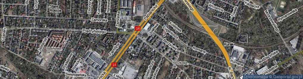 Zdjęcie satelitarne Złocista ul.
