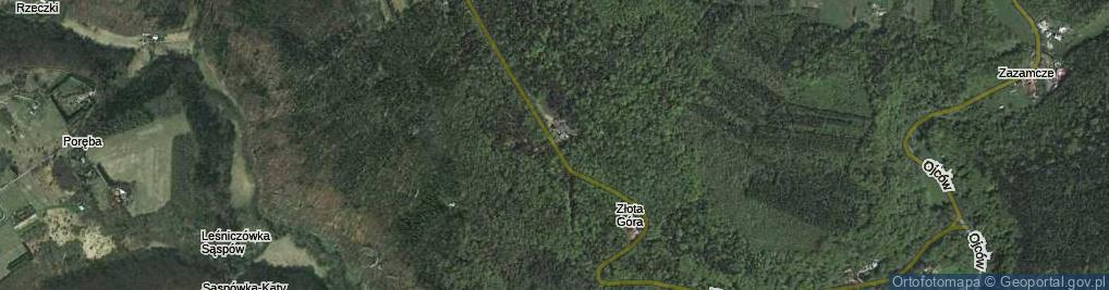 Zdjęcie satelitarne Złota Góra ul.