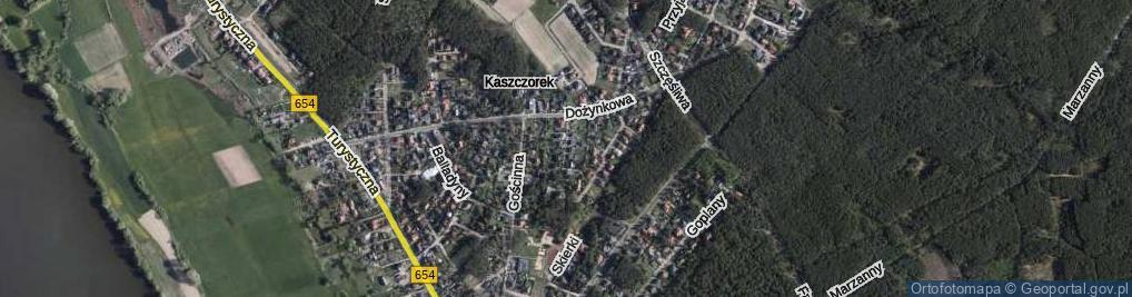Zdjęcie satelitarne Złotej Rybki ul.