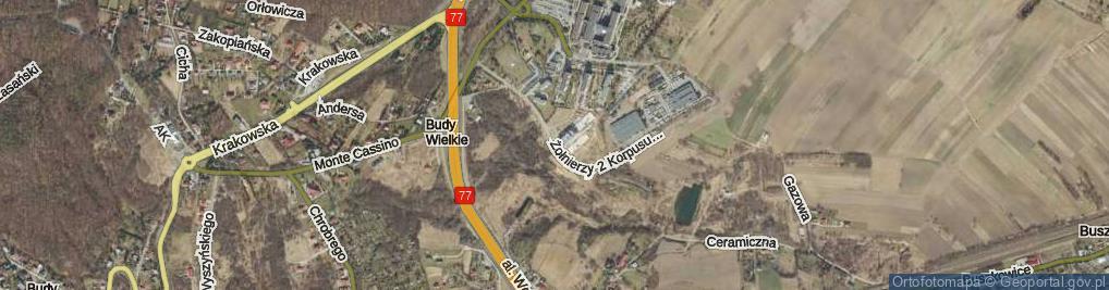 Zdjęcie satelitarne Żołnierzy 2 Korpusu Polskiego ul.