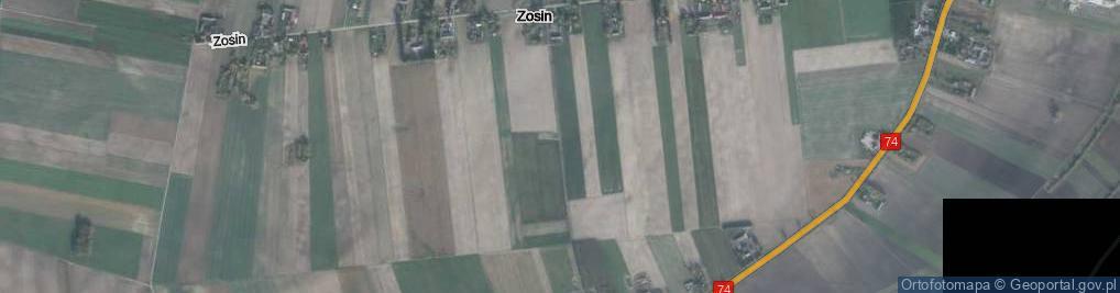 Zdjęcie satelitarne Zosin ul.