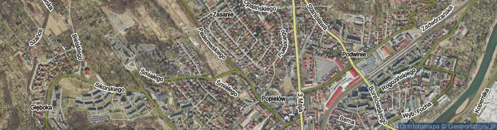 Zdjęcie satelitarne Żulińskiego Romana ul.