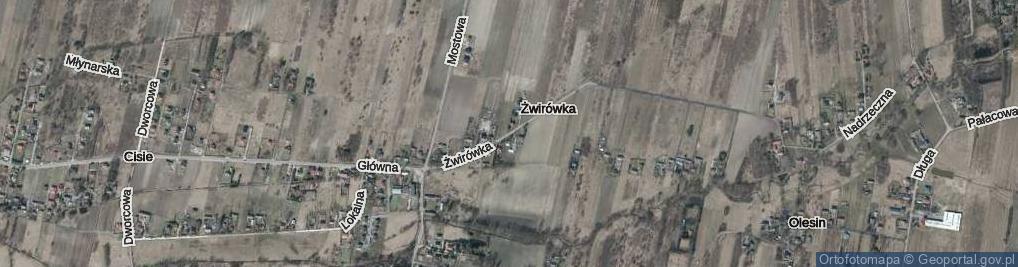 Zdjęcie satelitarne Żwirówka ul.
