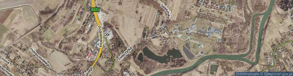 Zdjęcie satelitarne Zwięczycka ul.