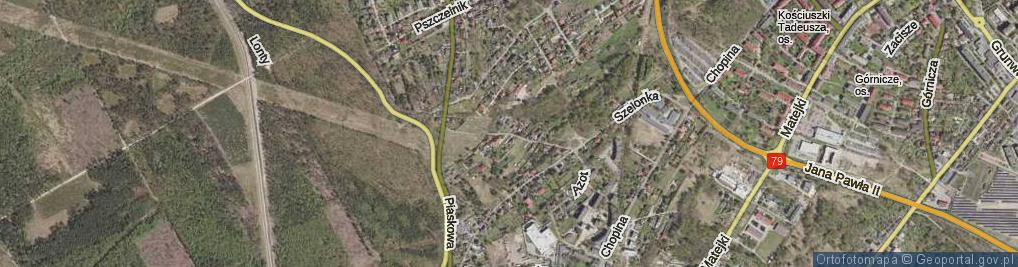 Zdjęcie satelitarne Żywiczna ul.