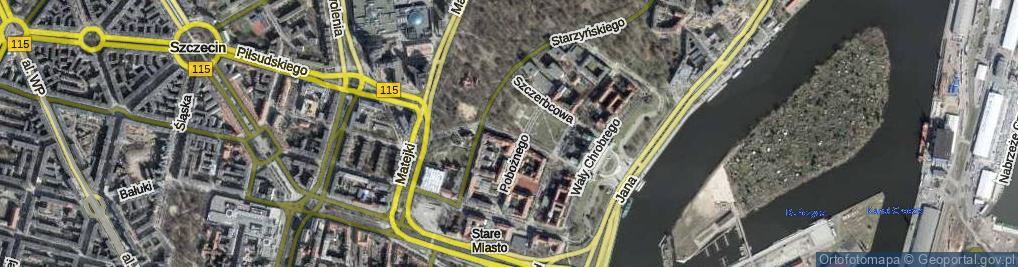 Zdjęcie satelitarne Zygmunta Starego ul.