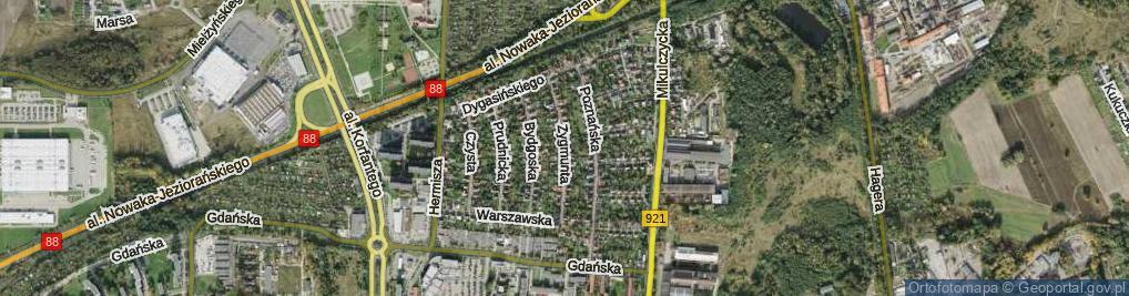 Zdjęcie satelitarne Zygmunta Augusta ul.