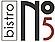 Logo - Bistro no.5, Obrzeżna 5B, Warszawa 02-691 - Kuchnia europejska - Restauracja, godziny otwarcia, numer telefonu