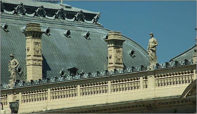 Łodź, Ogrodowa, palác, detail střechy, Zachodnia 34, Łódź 91-063 - Zdjęcia