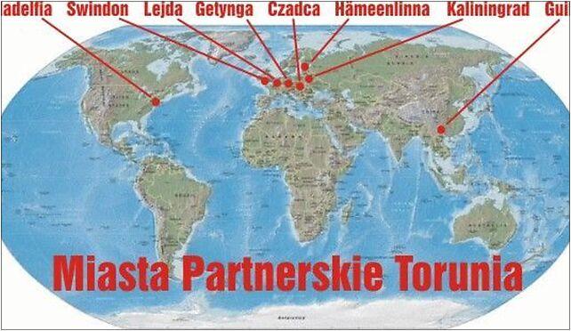 Miasta partnerskie Torunia, Pod Dębową Górą, Toruń 87-100 - Zdjęcia