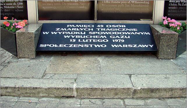 Rotunda memorial plate Warsaw, Marszałkowska 100/102, Warszawa 00-026 - Zdjęcia