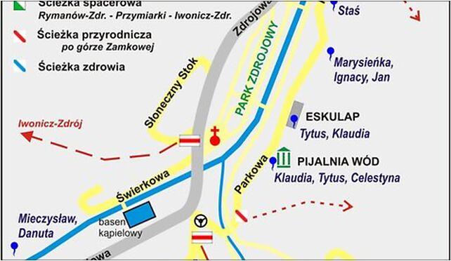 Rymanów-Zdrój plan źródła szlaki ścieżki, Berdelówka 38-481 - Zdjęcia