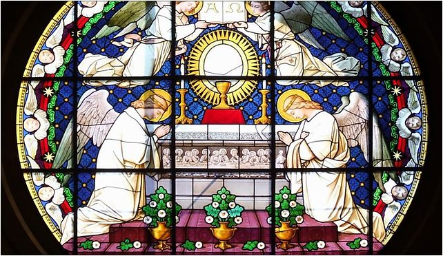 Stained glass in Nysa cathedral, Kościelny, pl. 6, Nysa 48-300 - Zdjęcia