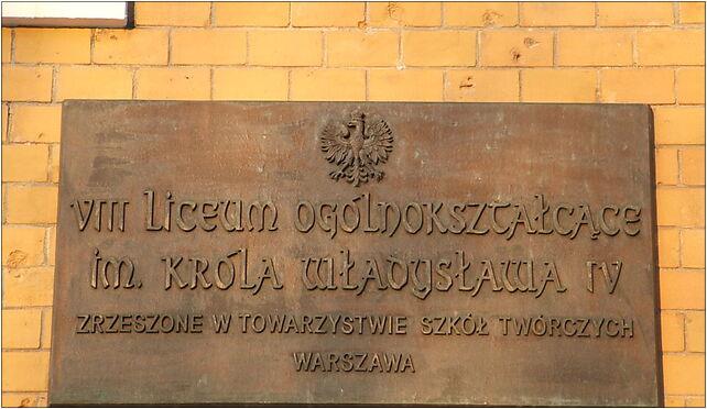 WładysławIV tablica nazwa2, Solidarności, al. 51, Warszawa 03-402 - Zdjęcia