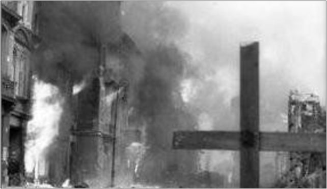 Warsaw Uprising by Braun - Burning Powiśle, Ordynacka 10/12 00-358 - Zdjęcia
