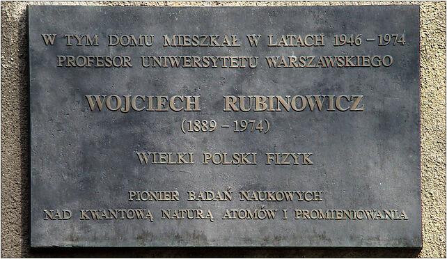 Wojciech Rubinowicz tablica ul Hoza 74, Rubinowicza Wojciecha 46 15-190 - Zdjęcia