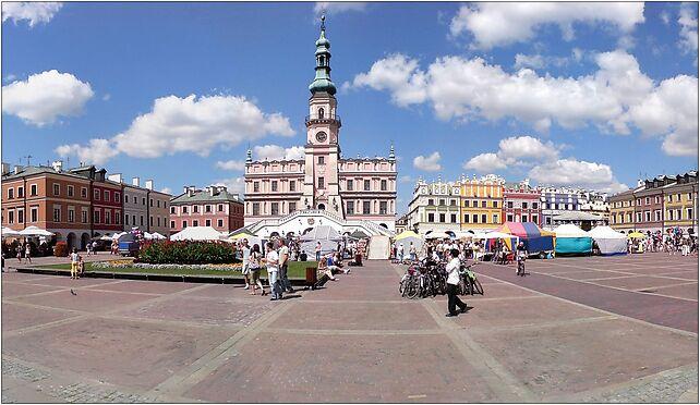 Zamosc Great Market panorama1, Staszica Stanisława 27, Zamość 22-400 - Zdjęcia